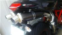 1098SLCI カーボンスリップオンマフラーの単体画像