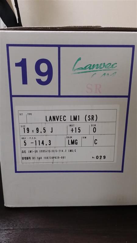 WORK LANVEC LM1 19インチ 9.5J