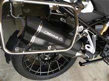 R1200GS アドベンチャーREMUS 8 スリップオンマフラーの単体画像