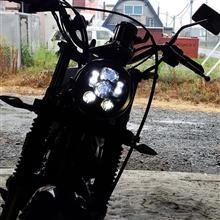 TW200Ranzek 5 3/4黒LEDプロジェクションデイメーカーヘッドライトの全体画像