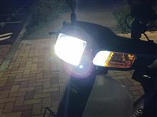 スーパーカブ100DAYANG ヘッドライト + 社外品ウインカーの全体画像
