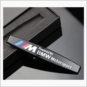 不明 BMW Motorsport 3D メタル エンブレム (ブラック)