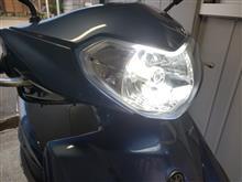 アクシスZAUNAX バイク用 LED ヘッドライト の全体画像