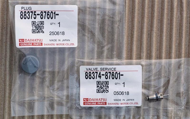 ダイハツ(純正)  低圧用サービスバルブNo.1 88374-87601 / 同キャップ 88375-87601