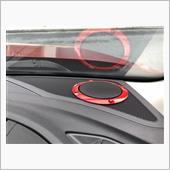 """メーカー不明 3"""" inch Red Tweeter Audio Speaker Cover"""