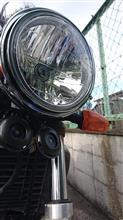 FZX250 ZeaL (ジール)メーカー・ブランド不明 ヤマハ用 8インチヘッドライトマルチリフレクターの単体画像
