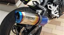 Ninja400WR'S SS-OVAL スリップオンマフラー 焼き色タイプの単体画像
