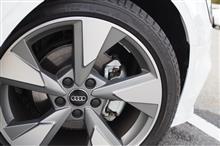 A3(セダン)Audi純正(アウディ) 5アーム パイロンデザイン マットチタンルックポリッシュトの全体画像