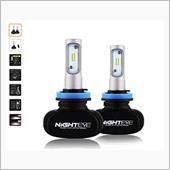 NIGHTEYE H11 ファンレス 一体型 LEDヘッドライト