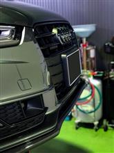 A5 スポーツバックGARBINO カーボンフロントリップスポイラーの単体画像