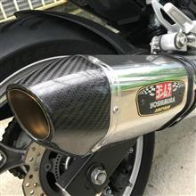 NC750Xヨシムラ スリップオンマフラー R-77Jサイクロン SSCの全体画像