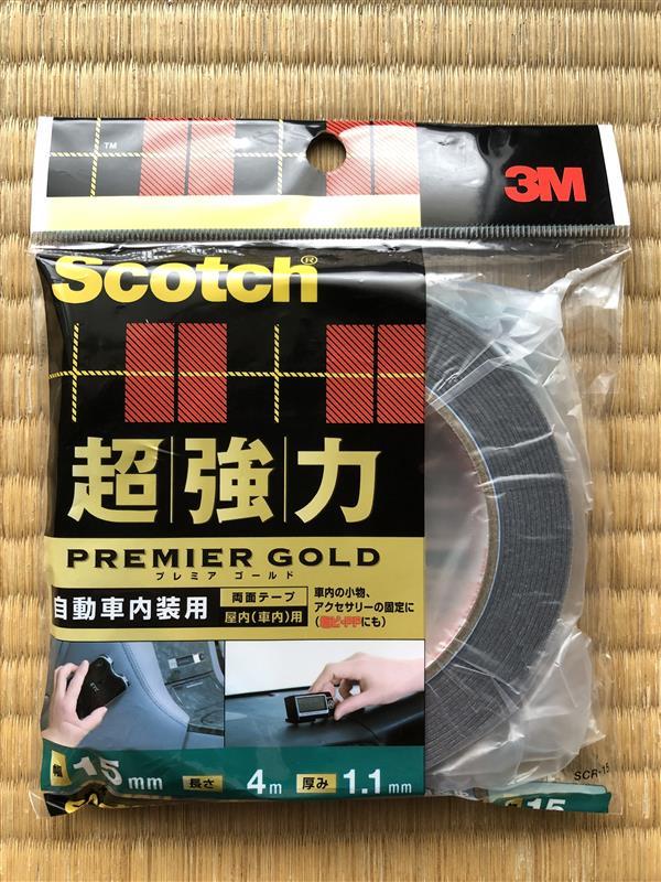 3M / 住友スリーエム Scotch Scotch 超強力両面テープ プレミアゴールド(自動車内装用)