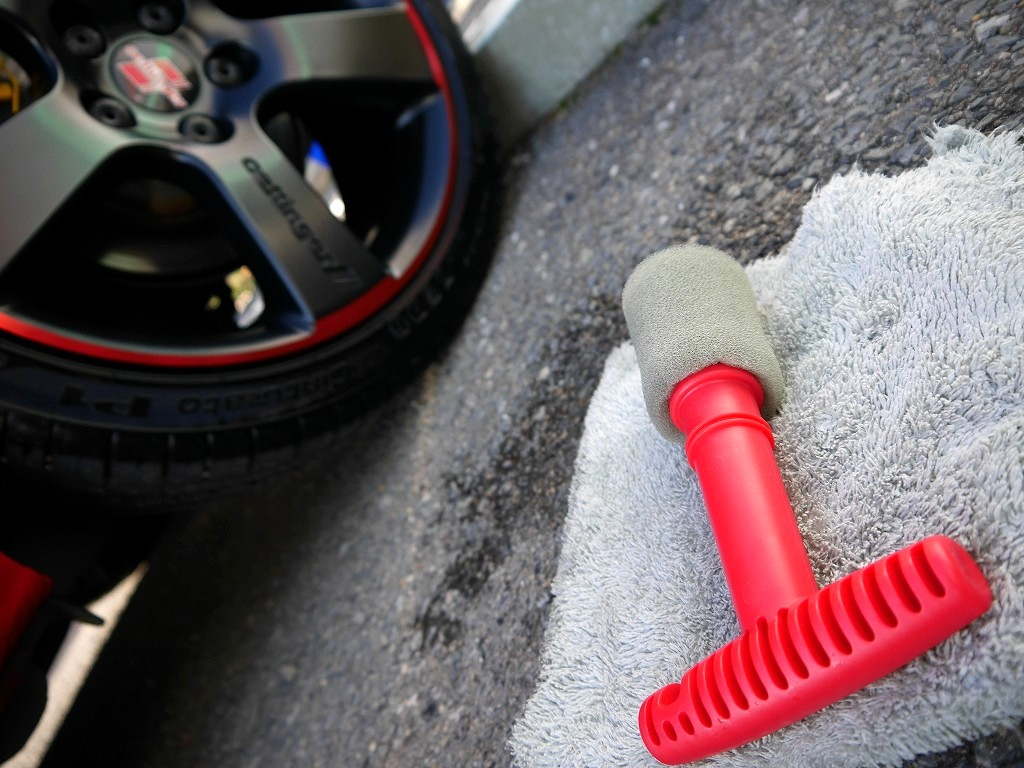 NVIXS Recessed Wheel Lug Nut Cleaning Brush