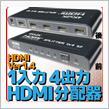 不明 HDMIスプリッタ 1入力4出力