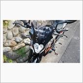 ノーブランド(Alpha Rider) ウインドシールド パネル KTM DUKE 125 200 390 用 スモーク