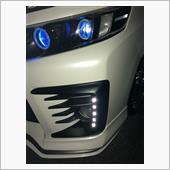 Vulcans バンパー 埋め込み 1W×10連 ツインカラー LEDデイライト