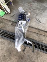 テリオスHST MUFFLER / 辻鐵工所 HST オールステンレスマフラーの全体画像