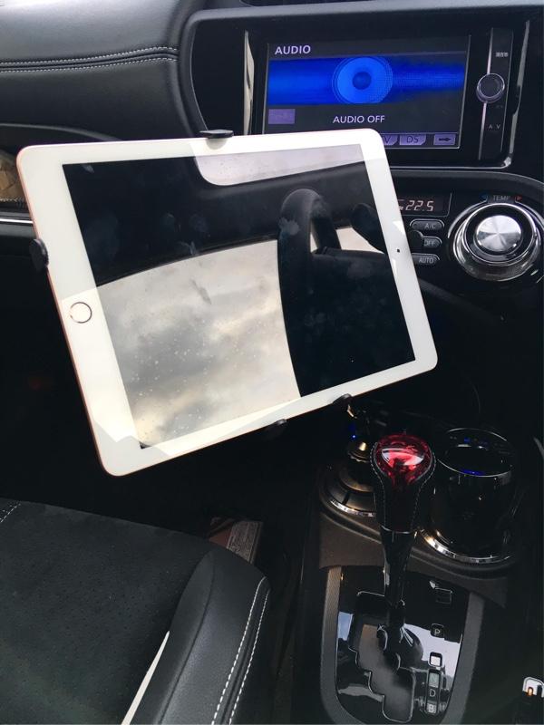 SANWA SUPPLY 200-CAR043 7〜11インチ対応iPad・タブレット用カップホルダー対応アーム