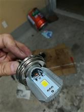 DT125自作 6V交流LEDヘッドライトの全体画像