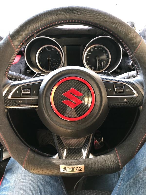 不明 Audi アウディステアリングホイール センター 装飾リング カバー