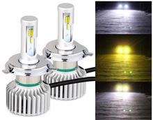 ラピュタPOOPEE LEDヘッドライト H4 Hi/Lo 3色温度切替 一体式の全体画像