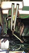 300ZXワンオフ ステンレス マフラーの単体画像