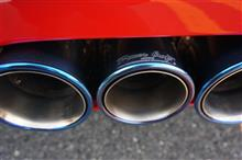 458スパイダーPower Craft ハイブリッドエキゾーストマフラーシステムの全体画像