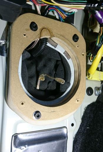 自作 13cmスピーカー変換スペーサー