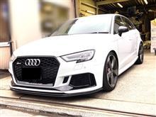 RS3 スポーツバックadd performance フロントリップスポイラー Audi RS3 8V後期型 セダン用の全体画像