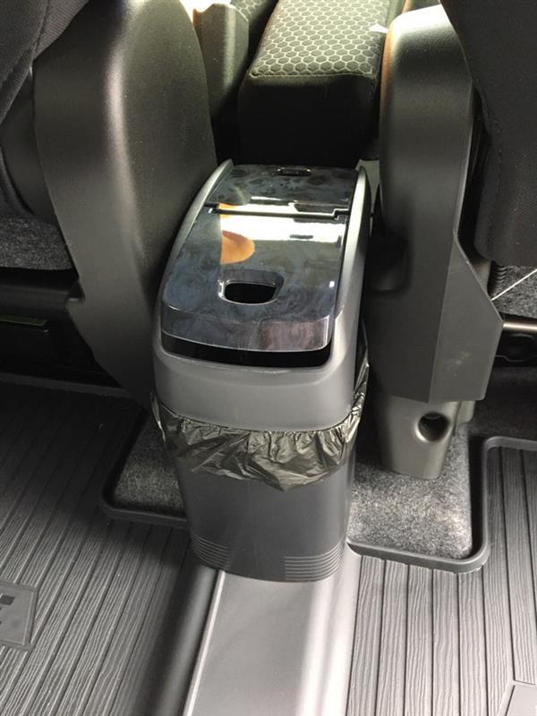 CAR MATE / カーメイト INDEED スリムゴミ箱おもり付 黒木目 / DE321