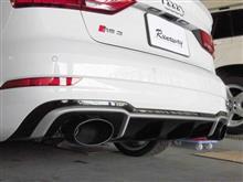 RS3(セダン)Milltek Sport Audi RS3 Sedan Cat Back (Rasonated) Black Oval Tipsの全体画像