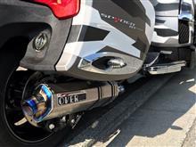 カンナム スパイダー RTOVER RACING チタンマフラーの単体画像