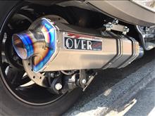 カンナム スパイダー RTOVER RACING チタンマフラーの全体画像