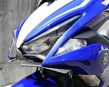 エアロックス155VND RACING フロント Winglet カーボンの単体画像