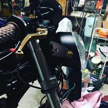 MONSTER400 (モンスター)K&W Harley (ハーレー) V-ROD用 社外ヘッドライトの全体画像