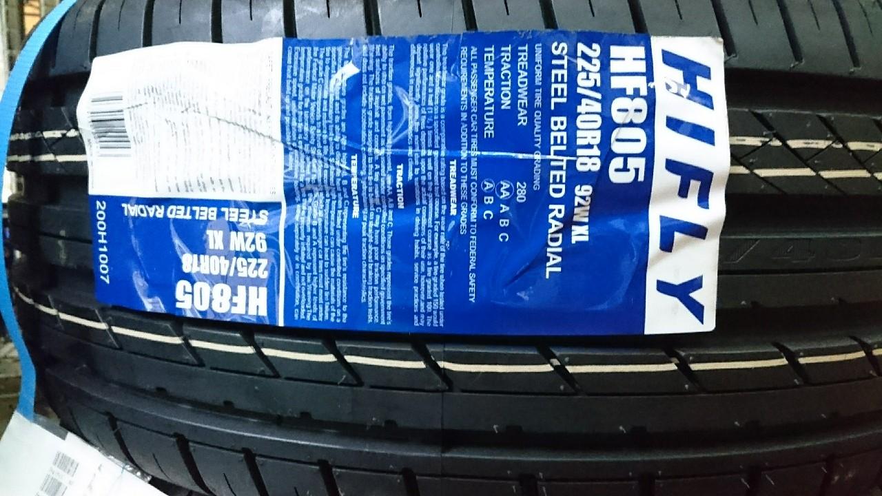 中国タイヤメーカー HIFLY HF805 225/40/18