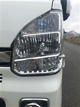 NV100クリッパー リオ自作 加工ヘッドライトの単体画像