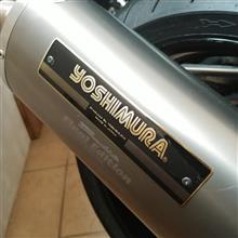 バンディット1200Sヨシムラ ファイナルエディションコラボ?マフラーの単体画像