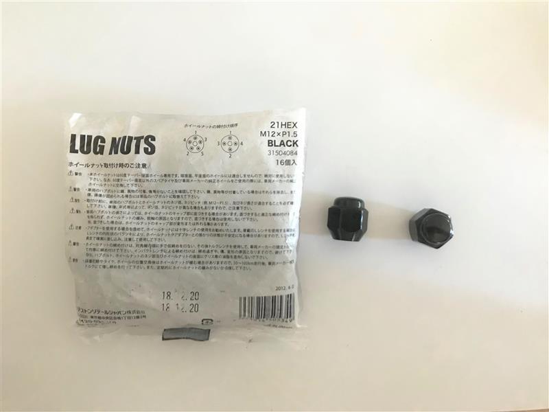 BRIDGESTONE LUG NUTS 2P Short type 2ピースショートナット BLACK