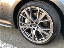 Audi純正(アウディ) 5V スポーク スターデザイン マットチタンルック ポリッシュト