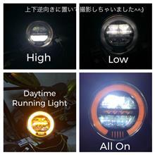 エストレヤ大陸商会♪ 6.5 inch Retro Auto by Head Light - LED DRL (Orange Option)の単体画像