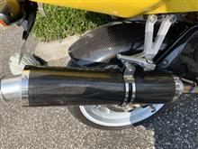 CBR954RRDAYTONA(バイク) ZRX1100用 ステン・カーボン巻きサイレンサーの単体画像
