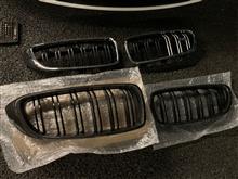 4シリーズ グランクーペAutoTecknik carbon Kidney grillの単体画像