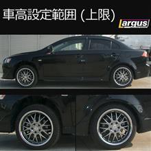 ギャランフォルティスLARGUS フルタップ式車高調の単体画像