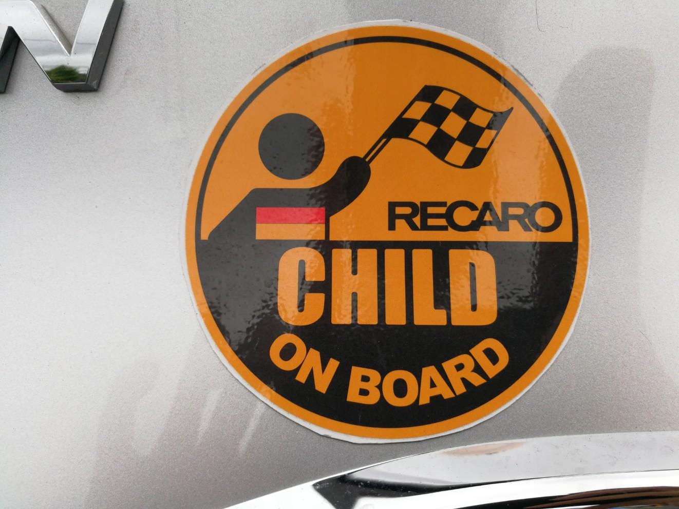 RECARO CHILD ON BOARDステッカー(マグネット改)