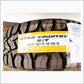 TOYO TIRES TOYO OPEN COUNTRY R/T 225/55R18 98Q