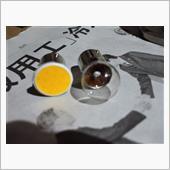 メーカー不詳 1156 シングル球 COB ワームホワイト 3000K S25