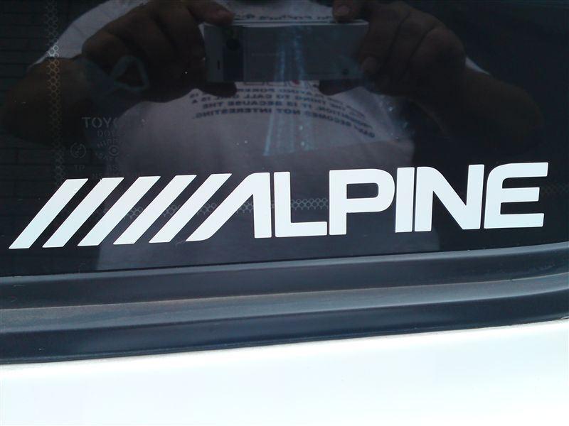 ALPINEステッカー