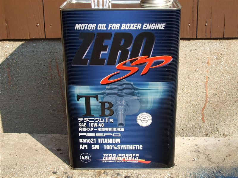 ZERO SPORTS ZERO SP チタニウムTB 10W-40
