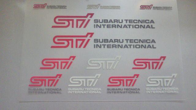 STI STIステッカー(転写タイプ)